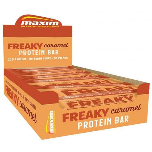 Maxim Freaky Caramel Proteinbar Test